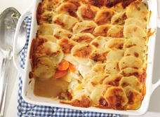 Root vegetable gratin recipe