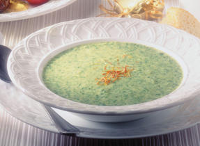 Saffron Cream of Lettuce Soup