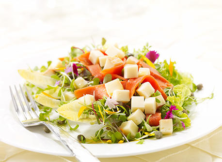 Salad with Smoked Salmon and Edam Recipe