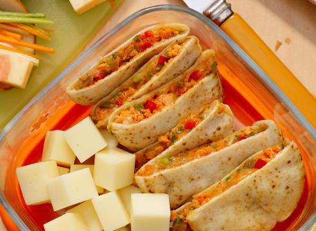 Salmon & Provolone Mini-Quesadillas Recipe