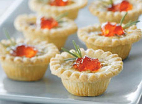 Savoury Blue Cheese & Pecan Appetizer Tarts