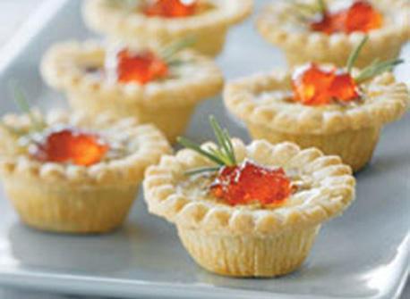 Savoury Blue Cheese & Pecan Appetizer Tarts Recipe