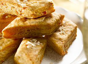 Savoury Cheddar Shortbread Diamonds