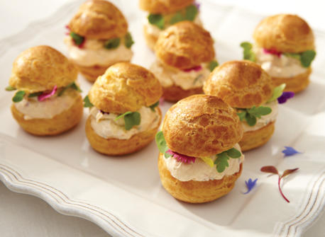 Savoury Cream Cheese Profiteroles  Recipe