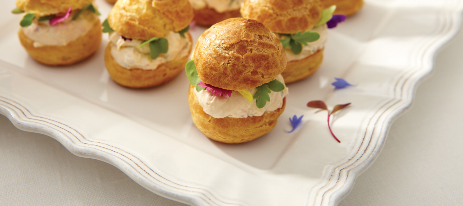Savoury Cream Cheese Profiteroles  recipe