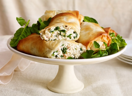 Savoury Ricotta & chicken turnovers Recipe