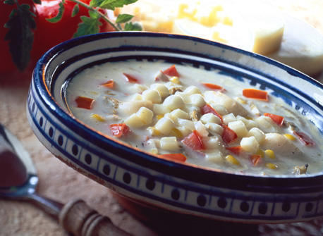 Scallop Chowder with Tomatoes and Canadian Provolone Recipe