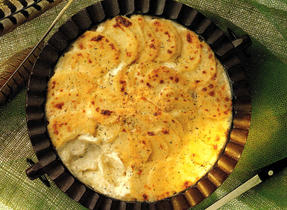 Scalloped Potatoes with Herbed Cheese