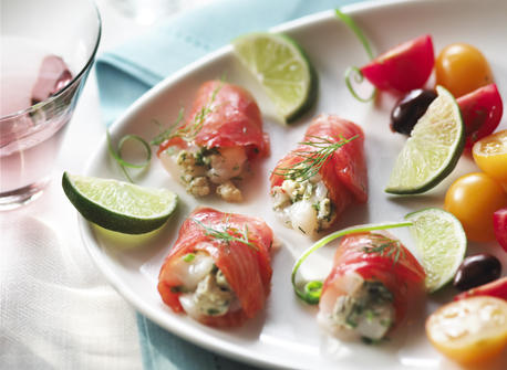 Scallops Tartare with Smoked Salmon and Blue Cheese Recipe