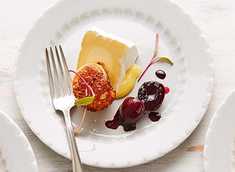 Seared scallops & fruit reduction Recipe