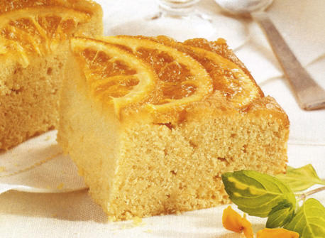 Semolina Pudding Cake With Bitter Orange Glaze