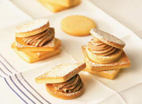 Shortbread with Chocolate Butter Cream