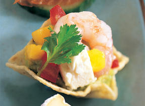 Shrimp and Avocado Canapés with Feta