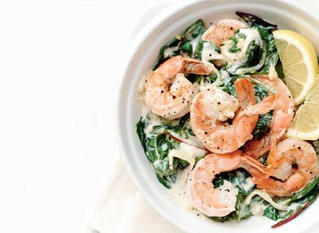 Shrimp and Hearty Greens Sauté Recipe