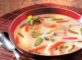 Shrimp, Vegetable & Coconut Milk Soup