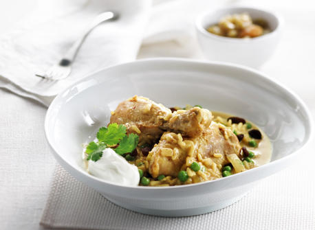 Simple Chicken Curry & Rice Recipe