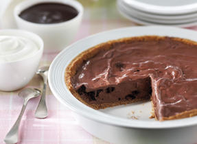 Sinful Brownie Ice Cream Pie with Decadent Chocolate Sauce