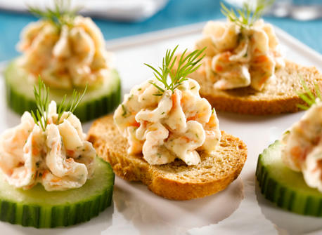 Smoked salmon mousse canapes recipe dairy goodness for Canape hors d oeuvres