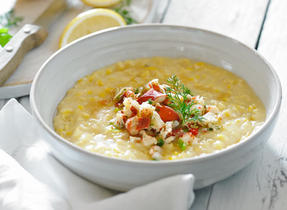 Southern Creamed Corn with Lobster