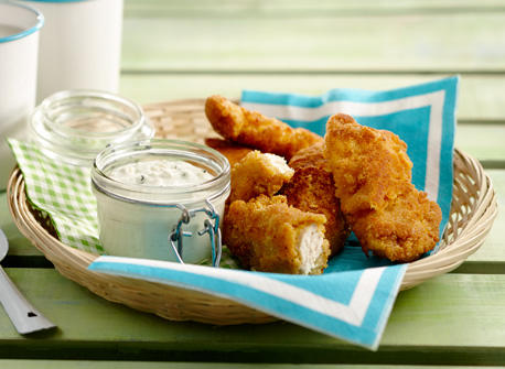 Southern Fried Chicken with Blue Cheese Sauce Recipe