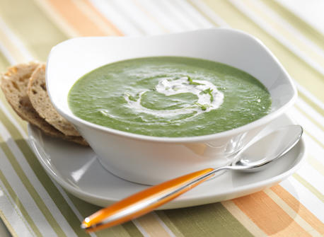 Spinach and Green Pea Soup  Recipe