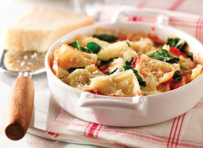 Spinach Baked Cheese Ravioli