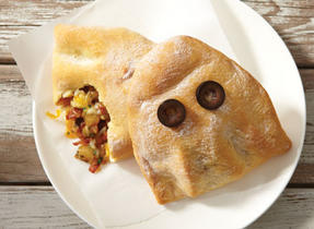 Spooky Ghost Calzone with Mozzarella