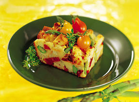 Spring Frittata with Asparagus and Bacon