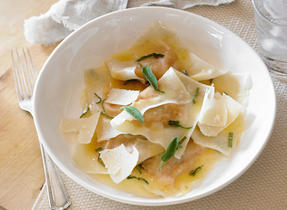 Squash Ravioli with Sage Brown Butter Sauce