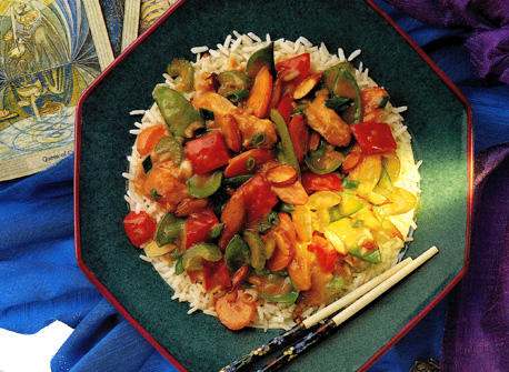 Stir Fry Chicken with Almonds Recipe