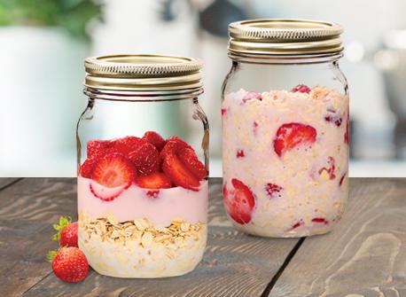 Strawberry Bonanza Overnight Oats Recipe