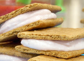 Strawberry Cream Sandwiches