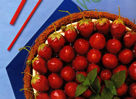 Strawberry Ginger Cream Pie  Recipe