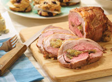 Stuffed Cheddar Lamb Roast recipe