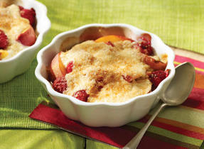 Summer fruit gratin