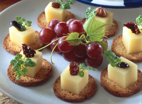 Surprise canap s with gouda cheese recipe dairy goodness for Canape receipes