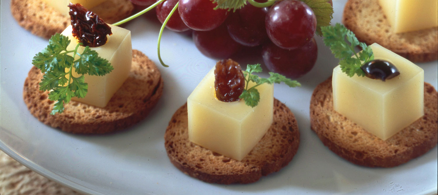 Surprise canap s with gouda cheese recipe dairy goodness for Italian canape ideas
