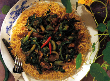 Sweet and Sour Beef with Greens Recipe