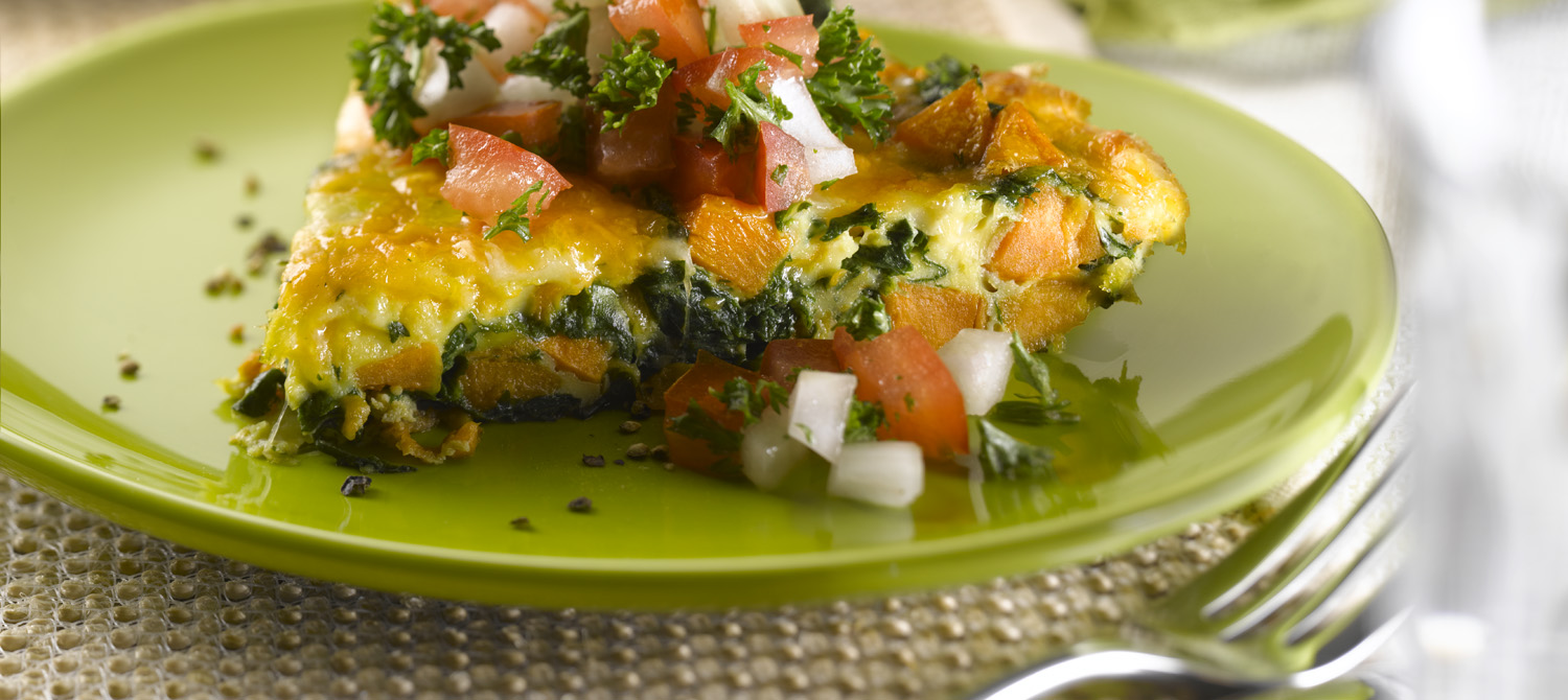 Sweet Potato & Spinach Frittata with Fresh Sweet Onion Salsa recipe ...