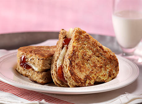 Sweetheart Monte Cristo Sandwiches  Recipe