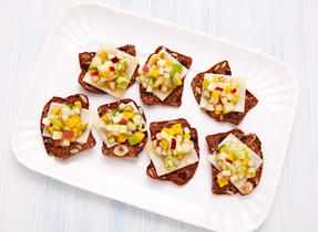 Swiss cheese fruit crisps
