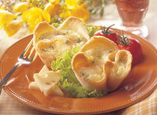 Swiss Egg Nests with Ham