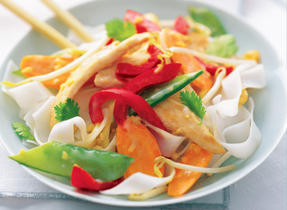 Tasty Thai Chicken and Noodles