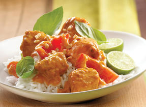 Thai Curry Chicken with Red Bell Peppers