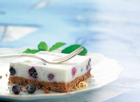 The Best Blueberry Vanilla No-Bake Cheesecake (Cooking Club Size)