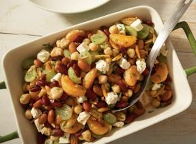 Three-bean salad with Feta
