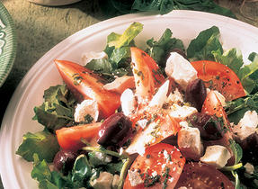 Tomato and Feta Cheese Salad with Basil