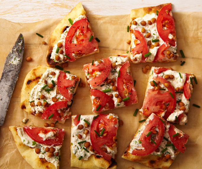 Tomato and Ricotta Open-Face Sandwich recipe | GetEnough.ca