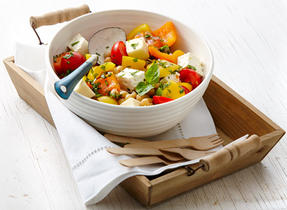 Tomato, Cheese and Chickpea Salad