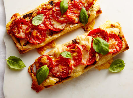 Tomato, chicken & Cheddar tarts   Recipe